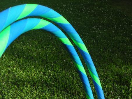 Anfänger Hula Hoop Supergrip blau-türkis-grün