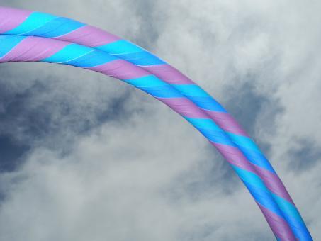 Anfänger Hula Hoop Supergrip lila-türkis-blau