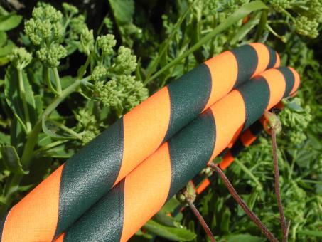 Anfänger Hula Hoop Supergrip dunkelgrün-orange