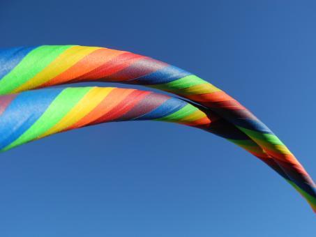 "Anfänger Hula Hoop Reifen Supergrip ""Rainbow"""