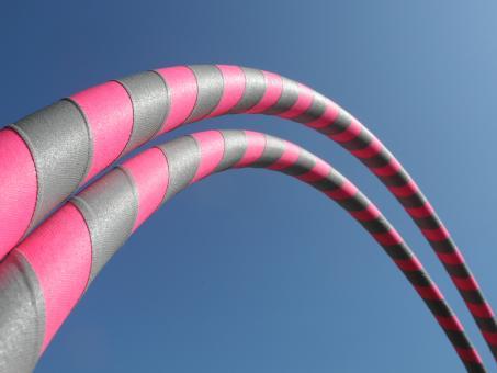 """Anfänger Hula Hoop Reifen Supergrip """"pink-grau"""""""