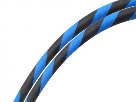 Fitness Hula Hoop Reifen Supergrip blau