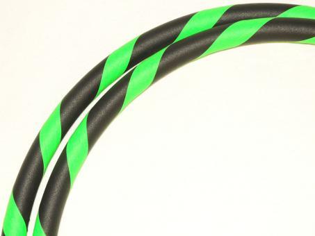 Fitness Hula Hoop Reifen Supergrip UV-neongrün