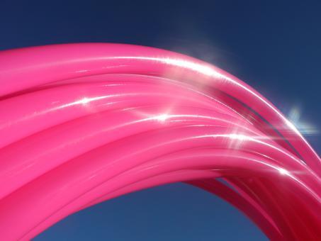 Polypro Hula Hoop Glossy Pink 90 cm