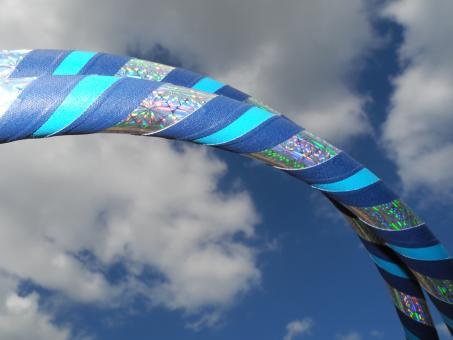 """Hula Hoop """"3D-Flower"""" blau-türkis"""