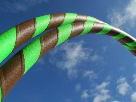"Hula Hoop Supergrip ""Wooden Root"" braun-grün 100 cm"