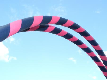 "Hula Hoop Supergrip ""pink-dunkelblau"" 90 cm"