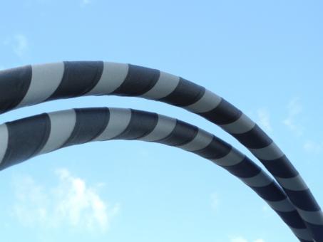 "Hula Hoop Supergrip ""Grey Stone"" grau-schwarz 105 cm"