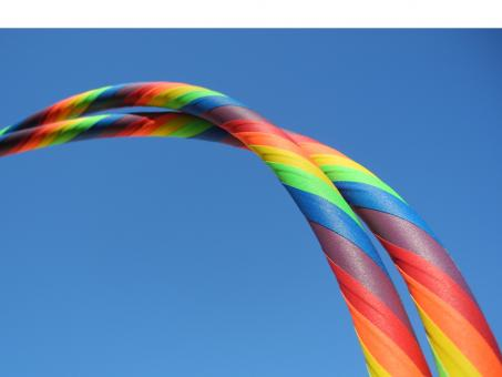 "Hula Hoop ""Supergrip"" Rainbow"