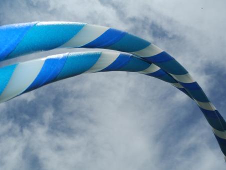 Kleinkinderhoop türkis-blau