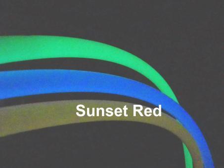 Polypro Hula Hoop UV night glow Sunset red