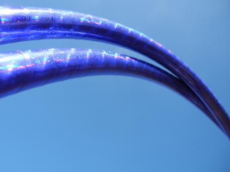 Ausstellungsstück - 90 cm Polypro Show-Hoop RainbowGloss lila MIT Griptape INNEN in UV-PINK!