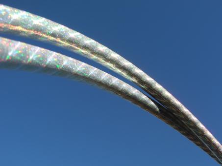 Show-Hoop thin 1,7 cm Rainbowgloss silber