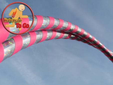 """Travelhoop faltbar """"Soul Dance"""" silber-pink 100 cm"""