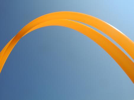"11/16"" GoldiLocks Polyprohoop UV orange"