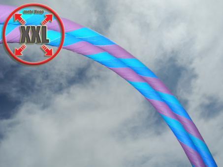 XXL Anfänger Hula Hoop Supergrip lila-türkis-blau
