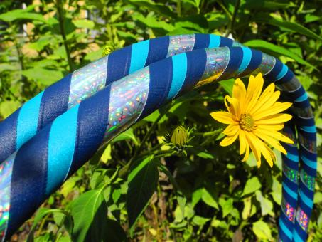 hula hoop 3d flower blau t rkis im hoopshop online bestellen und kaufen. Black Bedroom Furniture Sets. Home Design Ideas